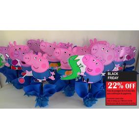 Centro De Mesa Georger Peppa Pig Kit 10 Pçs