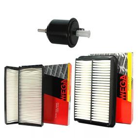 Kit Filtros Ar Condic + Ar Motor + Combustivel Jac J3 2011