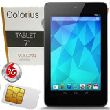 Tablet 7 Hd Chip 3g Wifi 8gb 1gb Ddr3 Colorius Volcan C070wh