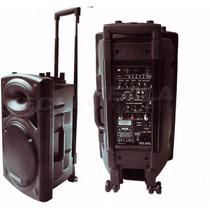 Caixa Amplificada Ecopower Ep1292 450wrms 2 Mic 15 Falante