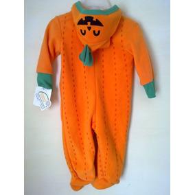 Mameluco Disfraz Calabaza Halloween Baby Creyzi 3-6meses