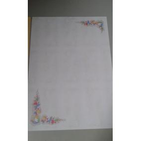 Bloco De Papel De Carta Decorado Com Envelopes