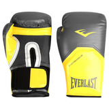 Luva Boxe Muay Elite Pro Style Everlast Amarela 12oz+ Brinde