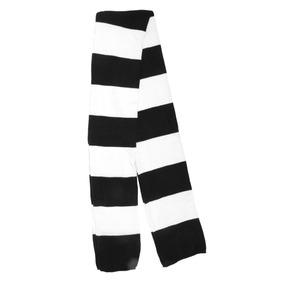 Black/white - Invierno Cálido Tejer Bufanda Rayas Elega-8111