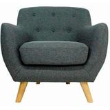 Sillon Individual Sofa 1 Cuerpo Diseño Vintage Rosario