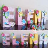 Letras 3d Para Candy Bar Baby Shower Cumpleaños Infantil