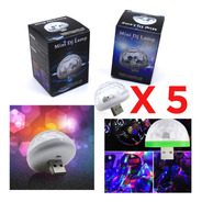 Caja X 5 Bola Rgb Magic Usb Media Esfera Audioritmica Dj