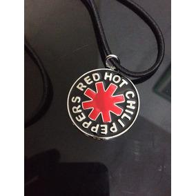 Colar Bandas Rock Punk Red Hot Chilipeppers Aço Cromado Novo
