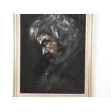 Retrato De Viejo Sobre Gamuza