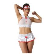 Fantasia Sensual Lingerie Enfermeira Sexy Plus Size Promoção