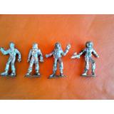 Lote X 4 Soldaditos De Plastico Espaciales Antiguos