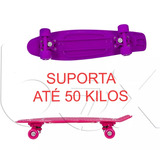 Skate Mini Longboard Retrô Cruiser Infantil 66,5x18cm Color