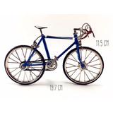 Adorno Vintage Coleccion Bicicleta Azul Escala Utileria
