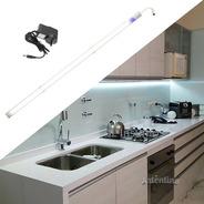 Luz Led 100cm Aluminio Alacena Cocina Dimmer Touch Listo Uso