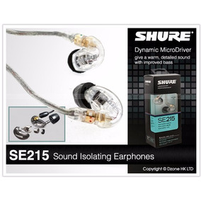 Shure Se215 Transparente Fone In Ear Pronta Entrega !