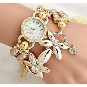 Relógio Feminino Original Pulseira Dourado De Luxo Promoção