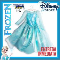 Disfraz Elsa Frozen Disney Store Original. Talla 7-8, 9-10