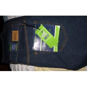 Pantalon Blu Jean Caballero 34 Con Logo 3 Costura