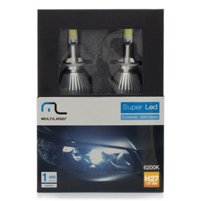 Lampadas Automotiva Multilaser Super Led H27 12v 30w 6200k -