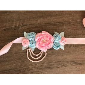 Cinturón Maternidad Flores Hechas A Mano
