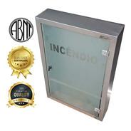 Caixa Hidrante Sobrepor Inox C/porta Em Vidro-900x600x170mm