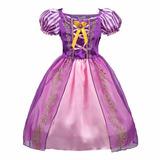 Vestid Disfraz Importad Princesa Rapunzel Aurora Sofía Disne