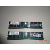 2 Memorias Para Pc - 1gb Ddr - 400 Mhz-cl2.5-pc3200u-25330