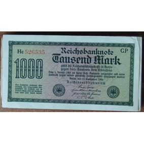 Alemanha 1 Uma Antiga Cédula Reich Original De 1922 Mark