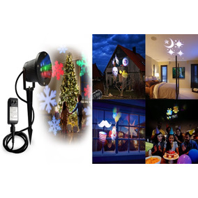 Proyector De Luces Led Con Movimiento Navidad Y Halloween