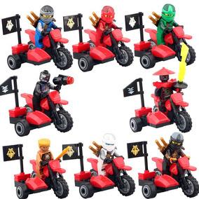 Set Kai Jay Lloyd Sw Motocicleta Ninjago Compatible Con Lego