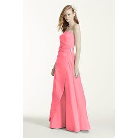 Lilasori Vestido De Fiesta Importado Color Coral Talla 7