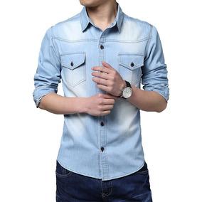 Camisa Jeans Masculina Manga Longa- Super Promoção