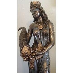 Escultura Diosa De La Fortuna De 70 Cms Resina