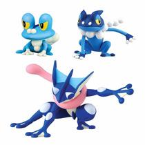 Pokémon 3 Figure Pack-froakie, Frogadierand Greninja