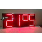 Reloj Digital Para Exterior Led Hora Y Temperatura