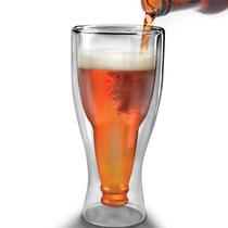 Vaso De Cristal Para Cerveza Fondo En Forma De Botella H1023