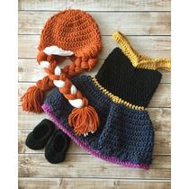 Vestido Frozen Vestido Ana Tejido A Crochet Envio Gratis