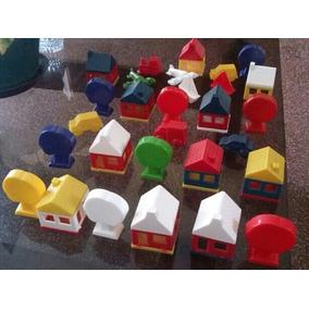 Juguetes Casitas Infantil Didactico Plástico Duro 28 Piezas