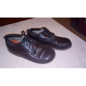Zapatos Colegiales De Nino Talla 35 Usados