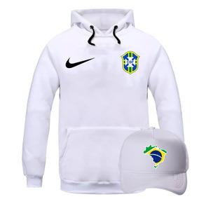 Blusa Moletom Casaco + Boné Seleção Brasileira De Futebol 3c55a2dcb7864