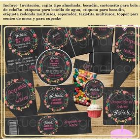 Kit Imprimible Despedida De Soltera Vintage Etiquetas