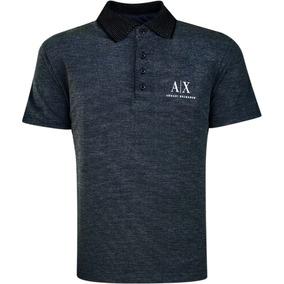 Camisa Polo Armani Exchange Masculina Preta Pronta Entrega