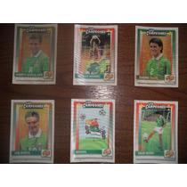 Lote De 6 Tarjetas De Futbol ( Los Campeones ) ( Años 80s)