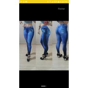 Kit C/03 - Calça Leg Legging Imitando Fake Jeans | Fitness