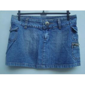 Mini Saia Da Hand Book Em Jeans Tam P