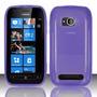 Capa Tpu Flexível + Película Plástico Nokia Lumia 710 N710