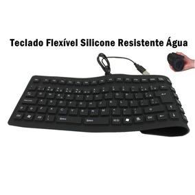 Teclado Flexível Silicone Resistente Aguá Usb P/ Pc Notebook