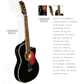 Violão Elétrico Acústico Digiorgio Havana Black Flat Slim