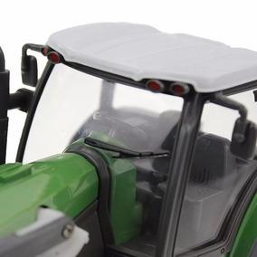 Trator Com Pá Carregadeira C/reboque Verde R/c Kit Fazenda
