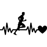 Calco Running 01 En Mi Sangre - 20 X 7 Cm - Graficastuning